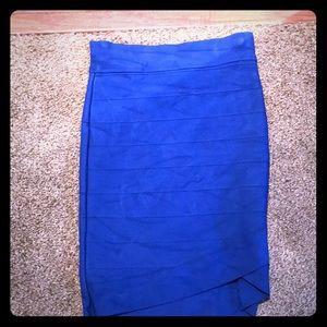 Royal Blue Bandage Skirt!
